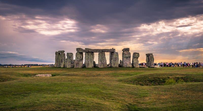 Stonehenge - Augusti 07, 2018: Fornminne av Stonehenge, England arkivfoto