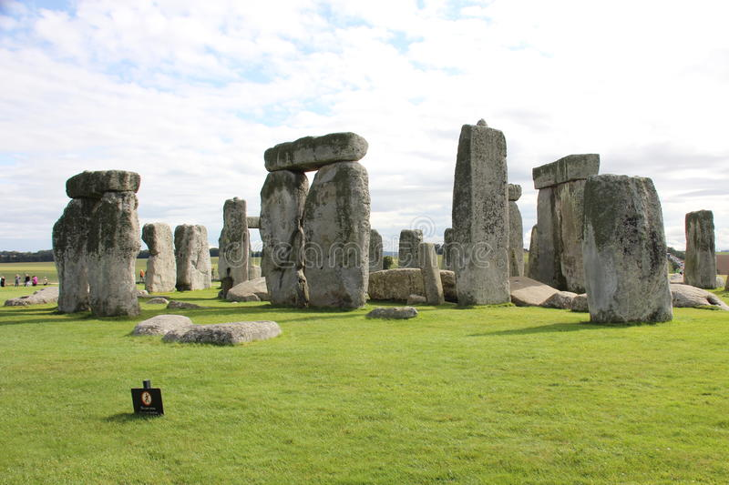 Stonehenge. Is a built in the Neolithic and Bronze Age until at least the occupied building near Amesbury in Wiltshire, England stock photo