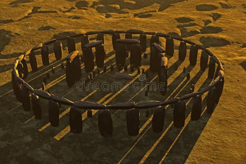 Download Stonehenge Casting Shadows stock illustration. Illustration of site - 3943264