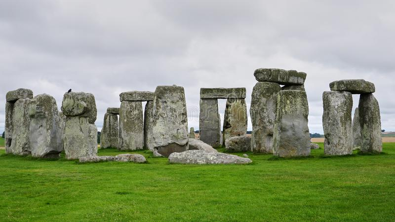 Stonehenge cirkel med inga personer, slut upp royaltyfria bilder