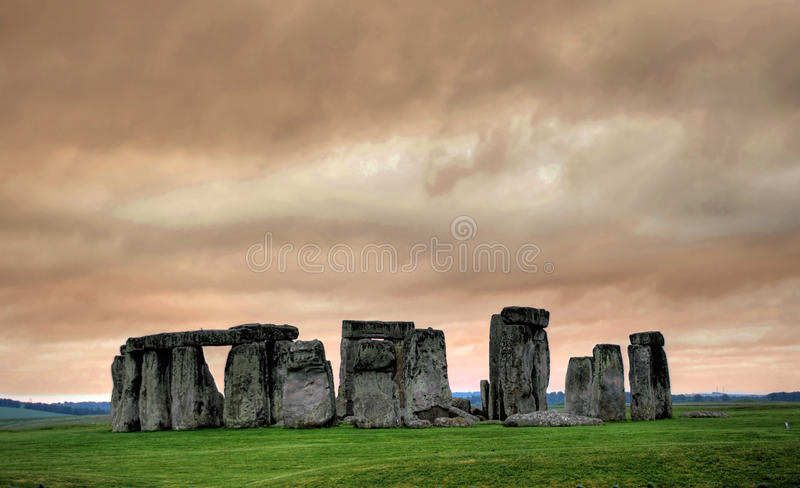 Stonehenge at dawn stock image