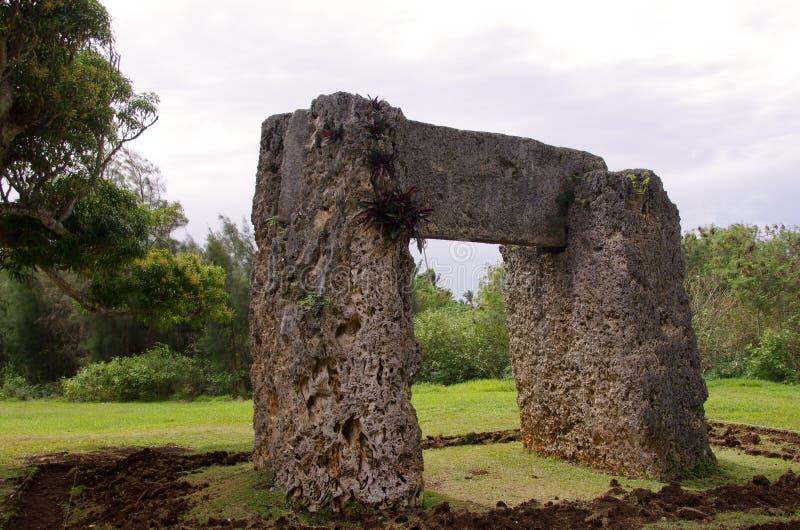 Stonehenge de Tonga fotografía de archivo