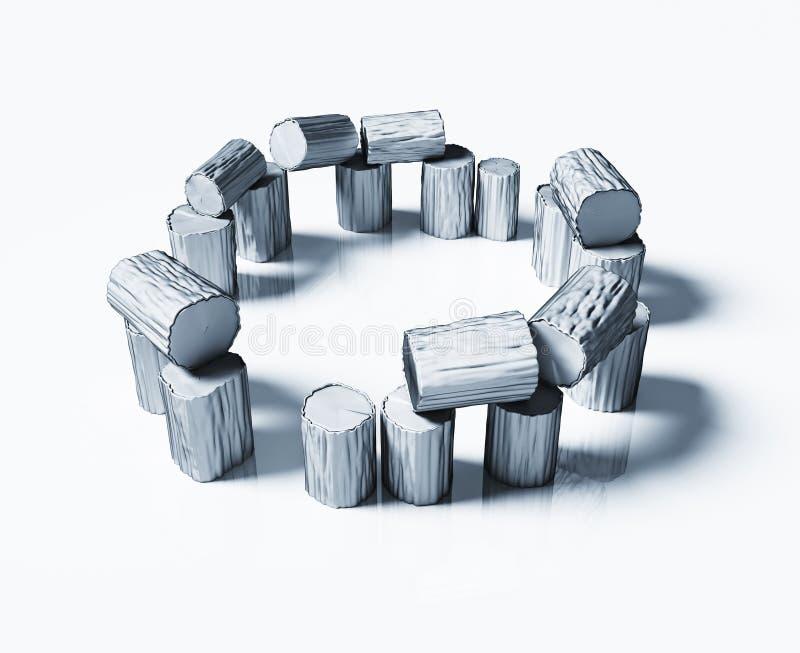 Stonehenge di legno fotografie stock libere da diritti