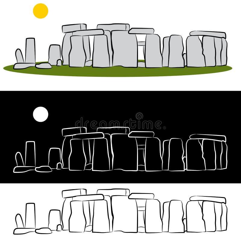 Stonehenge Drawing. An image of a stonehenge drawing set royalty free illustration