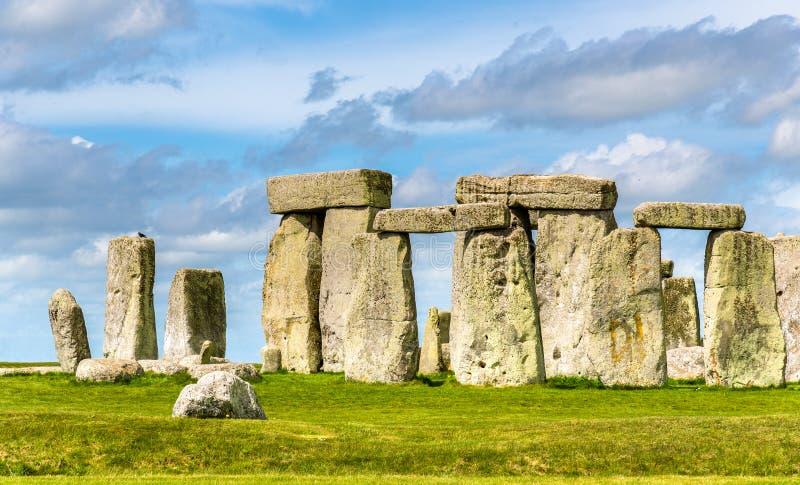 Stonehenge, een voorhistorisch monument in Wiltshire royalty-vrije stock afbeeldingen