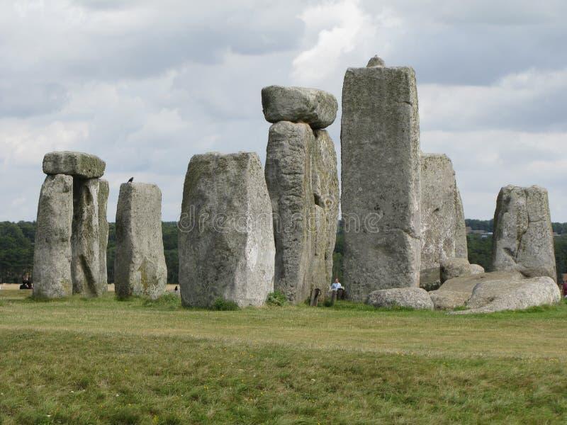 Stonehenge --en förhistorisk anseendestenmonument som lokaliseras i England royaltyfria foton