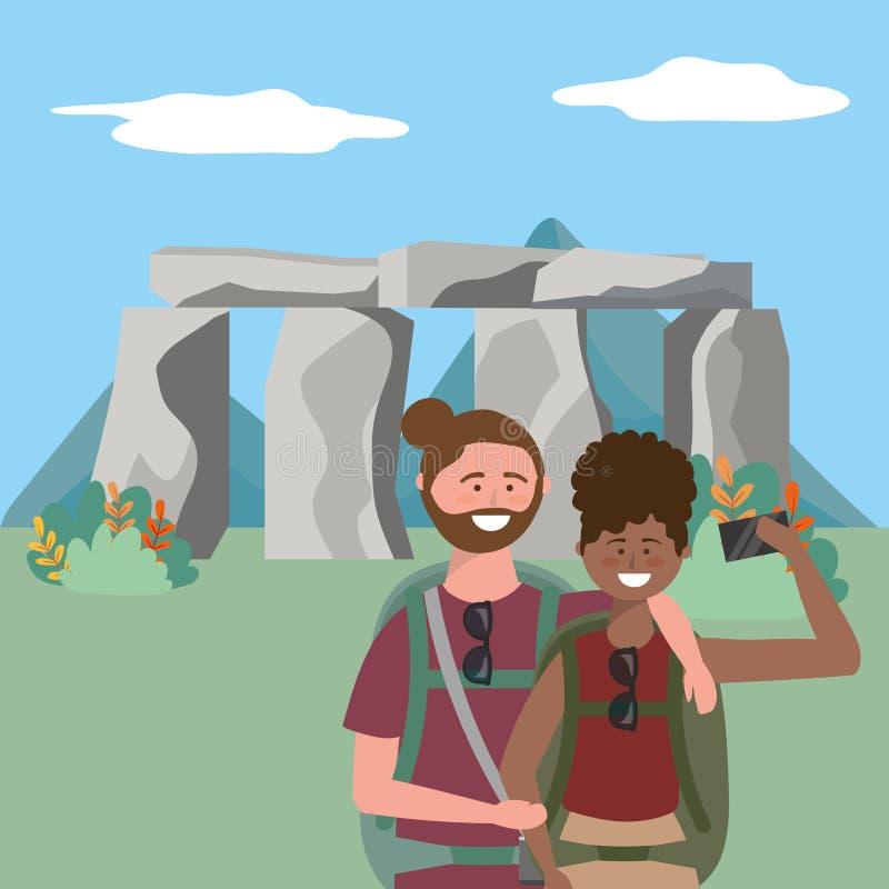 Stonehenge england landmark design vector illustration. Stonehenge england landmark design, Travel trip vacation tourism and journey theme Vector illustration royalty free illustration