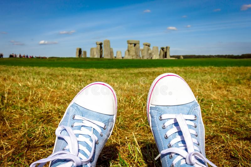 Stonehenge in England stock photos