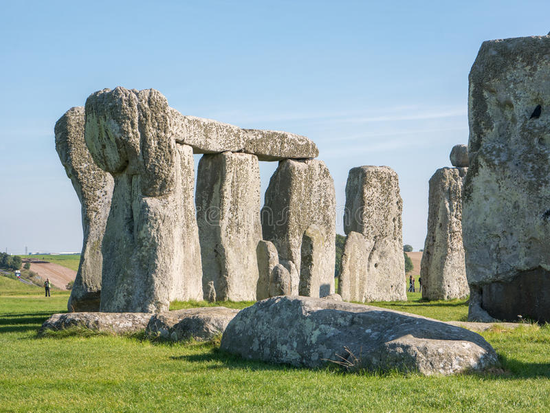Stonehenge, England. Stonehenge is a 4,500 year old, prehistoric, neolithic monument in Wiltshire, England, where the stones form an ancient temple aligned on stock image