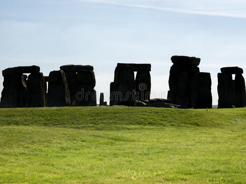 Stonehenge, England. Stonehenge is a 4,500 year old, prehistoric, neolithic monument in Wiltshire, England, where the stones form an ancient temple aligned on royalty free stock image