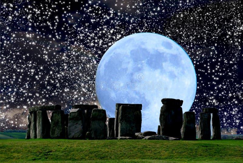 Stonehenge est un monument mégalithique de mlech de ³ de Crà images libres de droits