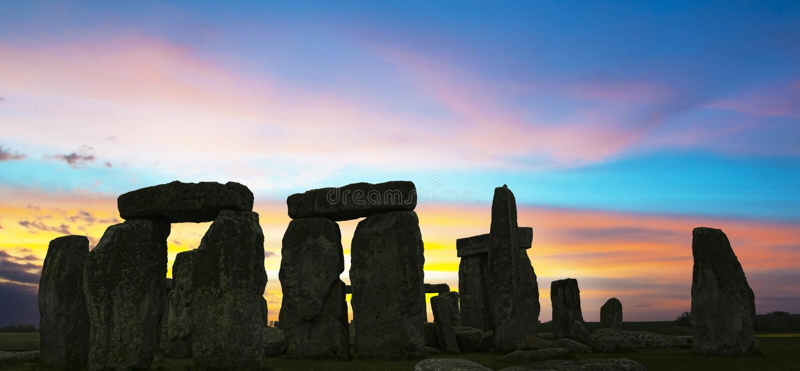 Stonehenge Großbritannien K stockfotos
