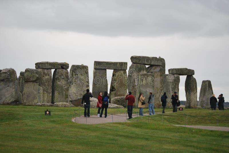 Stonehenge in het UK stock afbeelding