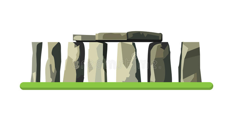 Stonehenge icon isolated on white background. Vector illustration. For prehistoric religious landmark architecture. Ancient monument rock. Heritage England UK vector illustration