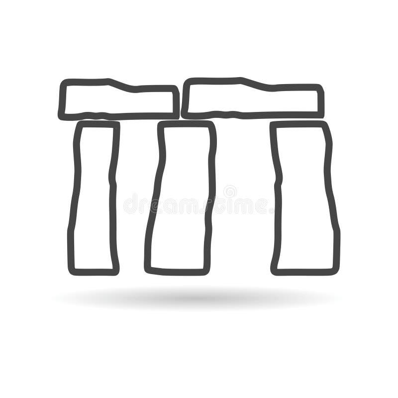 Stonehenge Icon. Simple vector icon royalty free illustration