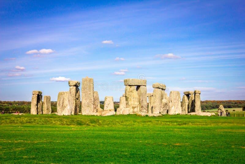 Stonehenge in Inghilterra immagine stock libera da diritti