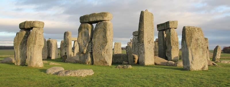 Stonehenge, Inghilterra Il Regno Unito fotografia stock libera da diritti