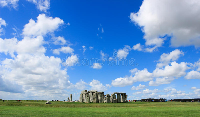 Stonehenge landskap royaltyfri bild