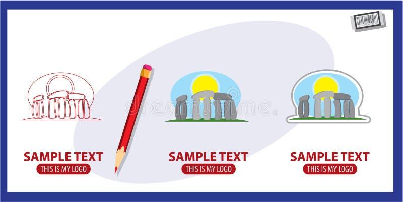 Stonehenge. Logo. Vector illustration on white background stock illustration