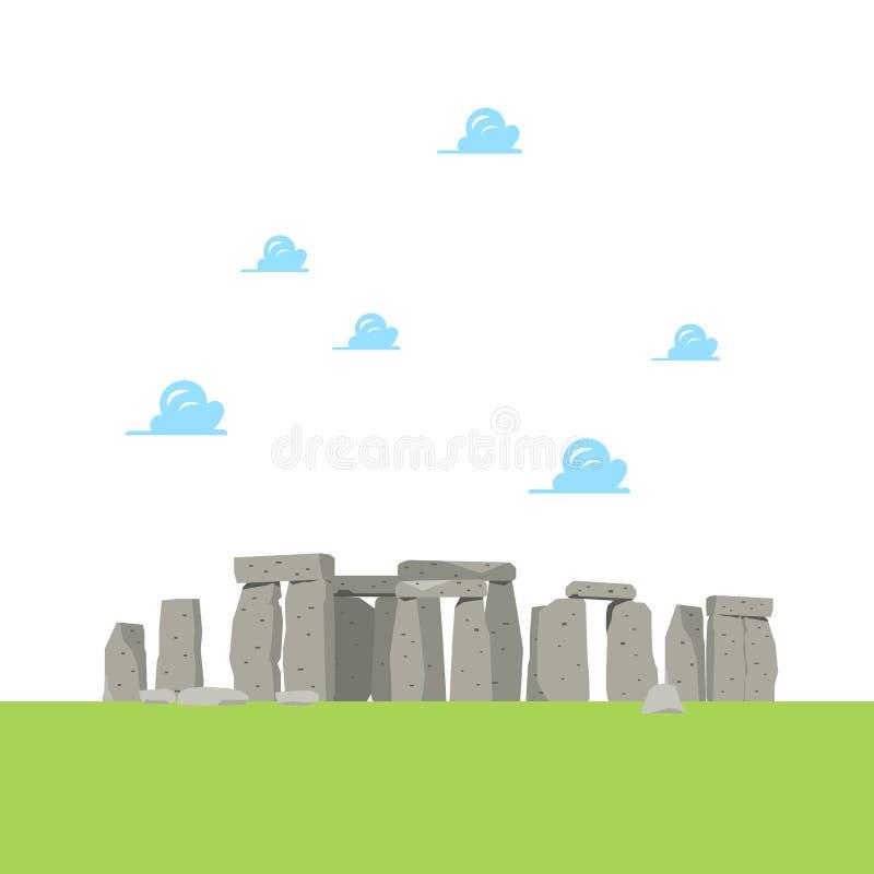 Stonehenge nello stile piano royalty illustrazione gratis