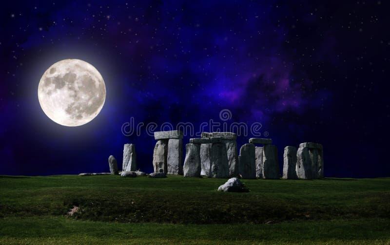 Download Stonehenge at night stock photo. Image of english, archeology - 28602916