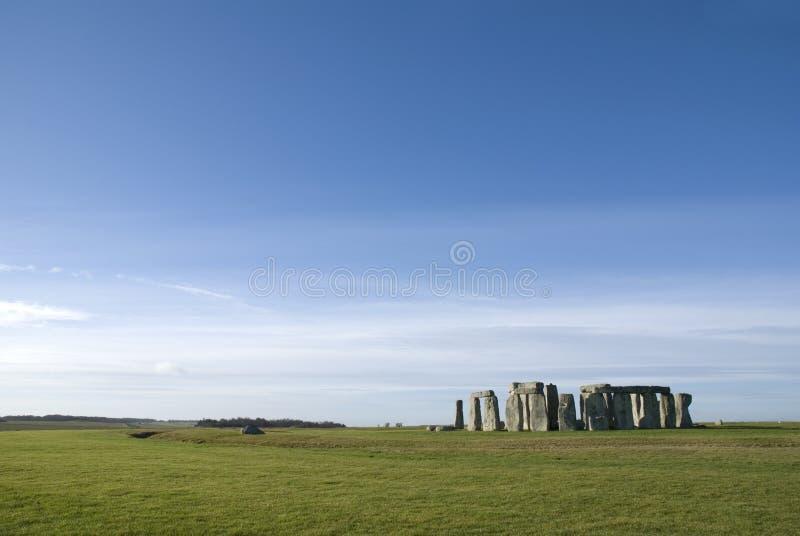 Stonehenge no condado de Wiltshire - Inglaterra imagens de stock royalty free