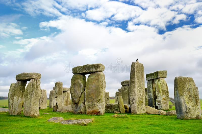 Stonehenge, one of the wonders of the world and the best-known prehistoric monument in Europe, located in Wiltshire, England. UK royalty free stock image