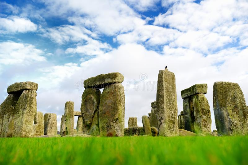 Stonehenge, one of the wonders of the world and the best-known prehistoric monument in Europe, located in Wiltshire, England royalty free stock image