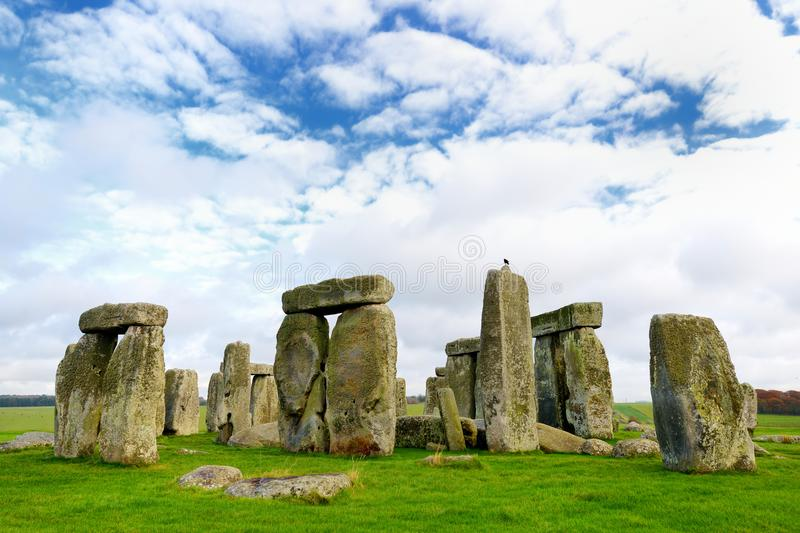 Stonehenge, one of the wonders of the world and the best-known prehistoric monument in Europe, located in Wiltshire, England. UK stock photos