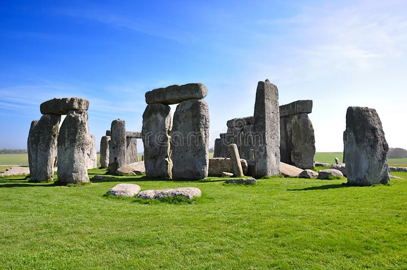 Stonehenge is a prehistoric monument. Wiltshire, England. Stonehenge is a prehistoric monument in Wiltshire, England, 2 miles west of Amesbury. Each is 13 royalty free stock images