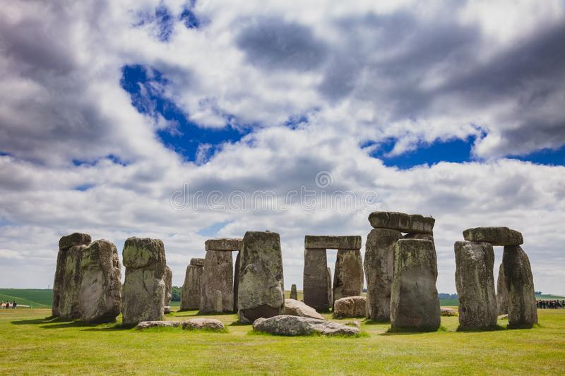 Stonehenge prehistoric monument Wiltshire South West England UK. Standing megalith stones of ancient prehistoric monument Stonehenge in Wiltshire, South West stock photos