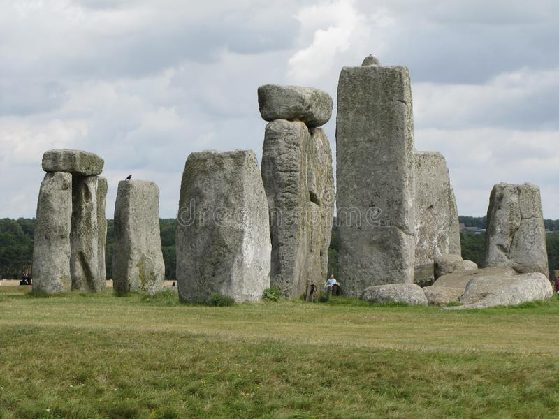 Stonehenge --a prehistoric standing stone monument located in England. Views of the famous prehistoric standing stone monument called Stonehenge, located in royalty free stock photos