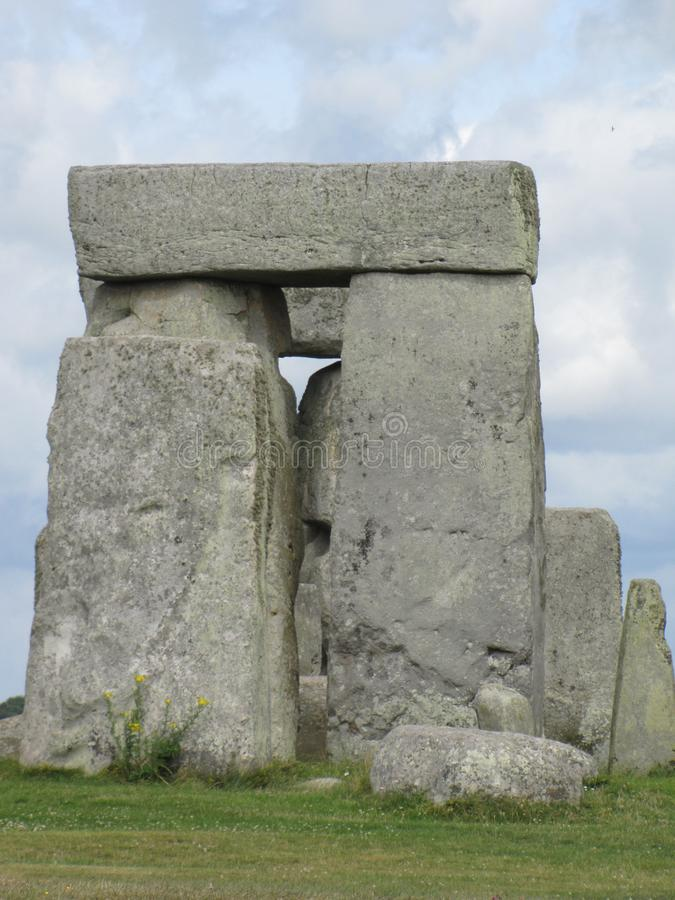 Stonehenge --a prehistoric standing stone monument located in England. Views of the famous prehistoric standing stone monument called Stonehenge, located in stock photos