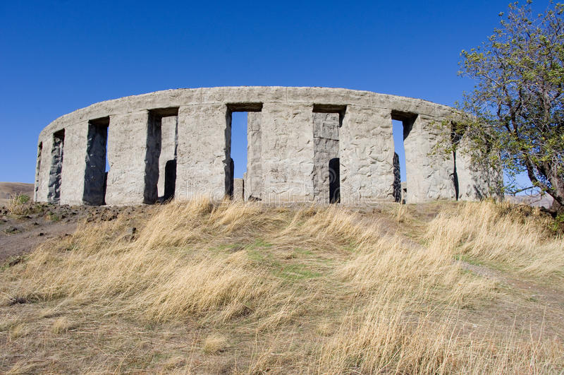 Stonehenge replica in Washington stock photography