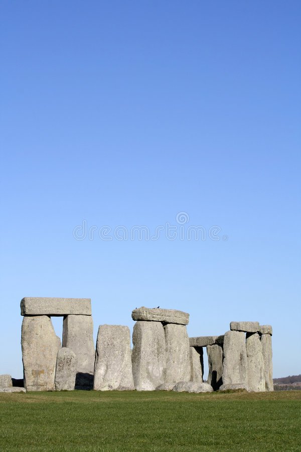 Stonehenge (room for text) stock images