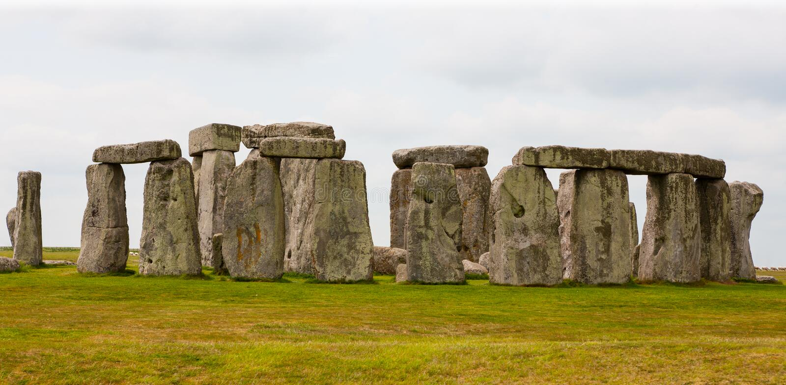 Stonehenge, Salisbury Plains, England. Neolithic prehistoric arrangement of large rocks in a circular formation royalty free stock images