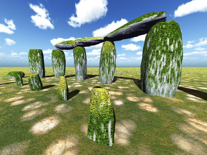 Stonehenge sanctuary. Near Amesbury in England vector illustration
