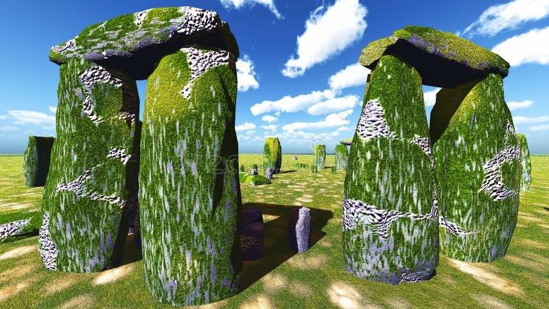 Stonehenge sanctuary. Near Amesbury in England stock illustration