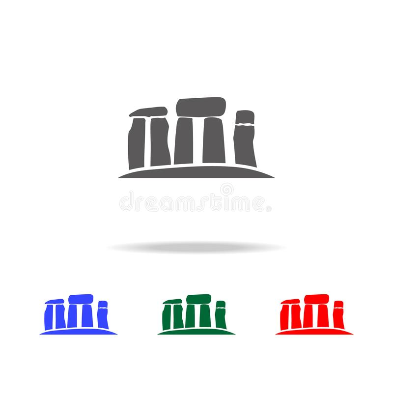 Stonehenge stones icon. Elements of United Kingdom multi colored icons. Premium quality graphic design icon. Simple icon for websi. Tes, web design, mobile app royalty free illustration