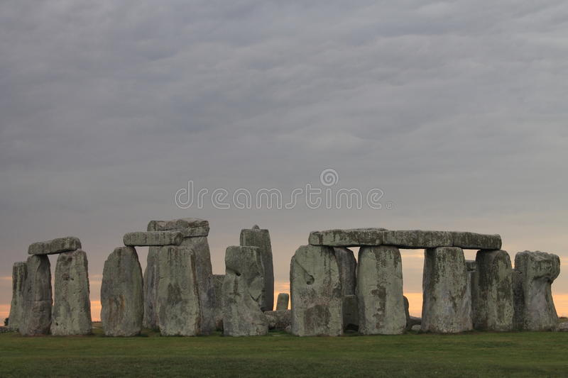 Stonehenge Storm Clouds royalty free stock images