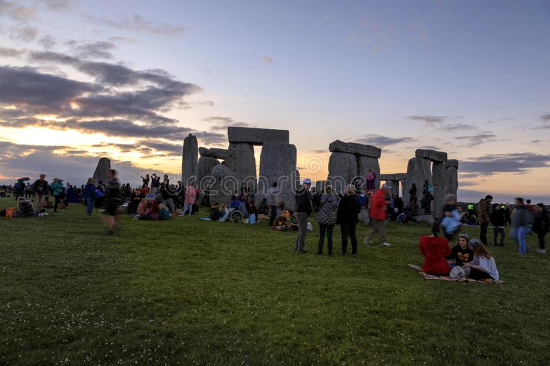 Stonehenge Summer Solstice 2018 royalty free stock images