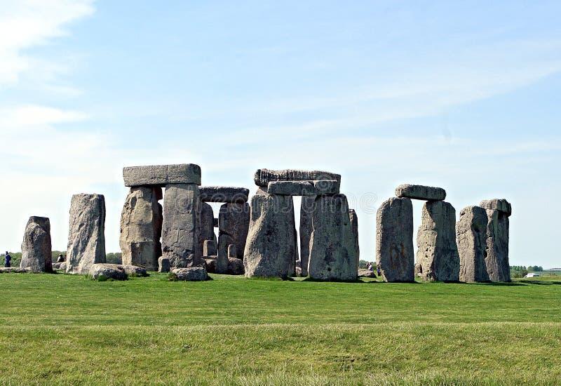 Stonehenge, un monument en pierre préhistorique antique photo stock