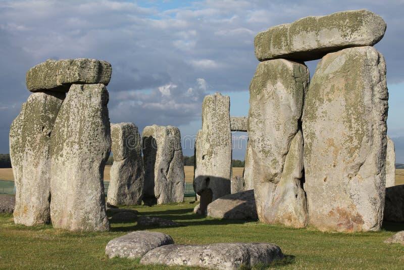 Stonehenge Under Dark Clouds stock photos
