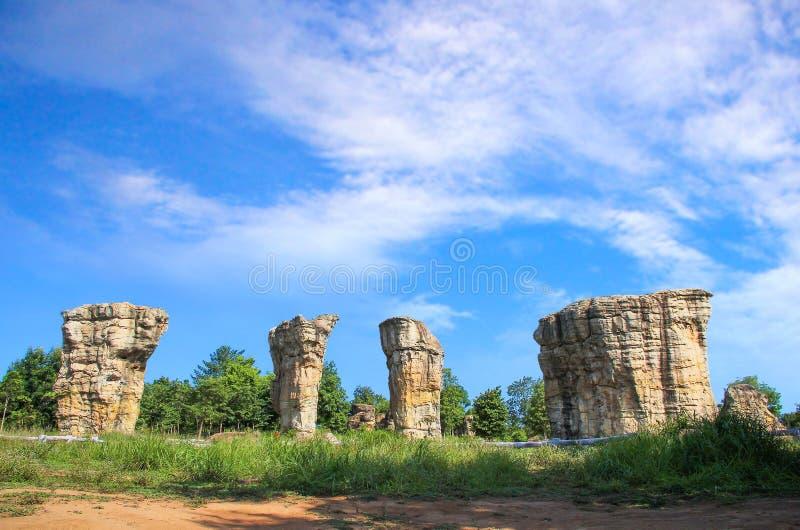Stonehenge van Thailand, Mor Hin Khao bij Chaiyaphum-provincie Thai royalty-vrije stock afbeeldingen