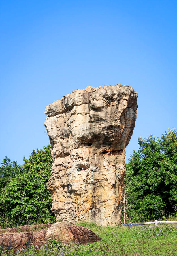 Stonehenge van Thailand, Mor Hin Khao bij Chaiyaphum-provincie Thai stock foto's