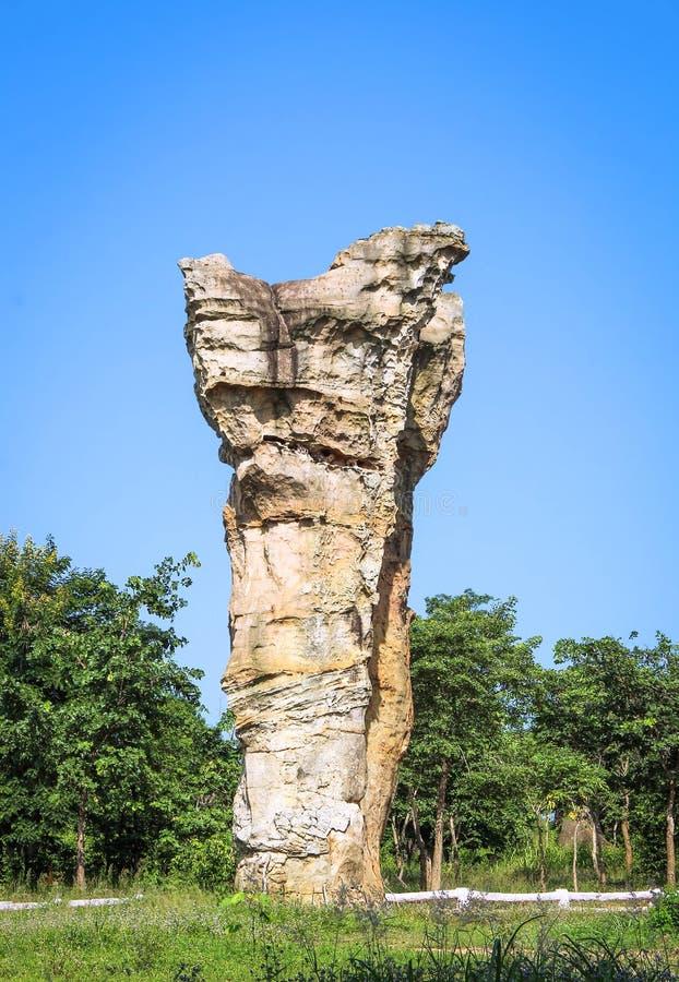Stonehenge van Thailand, Mor Hin Khao bij Chaiyaphum-provincie Thai royalty-vrije stock afbeelding