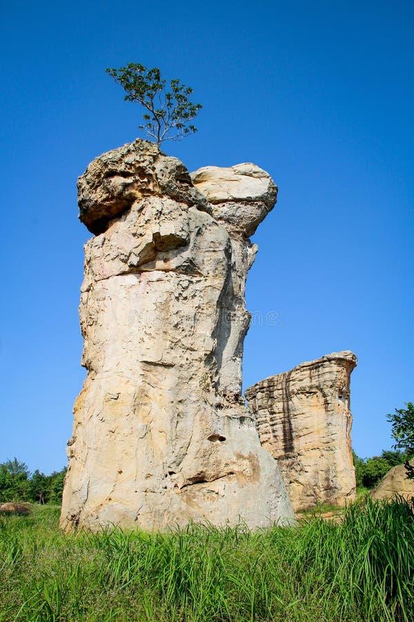 Stonehenge van Thailand, Mor Hin Khao bij Chaiyaphum-provincie Thai stock foto