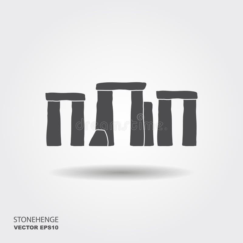 Stonehenge vector icon. Flat modern design with shadow Stonehenge monument stock illustration