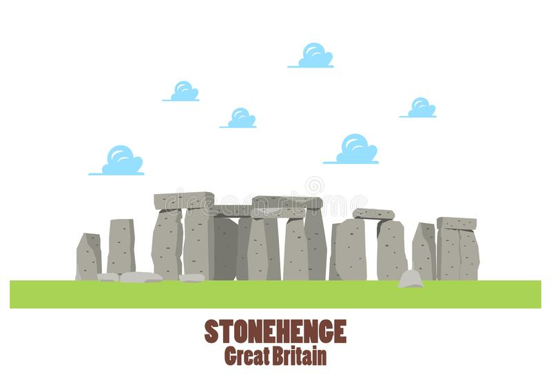 Stonehenge Vectorillustratie stock illustratie