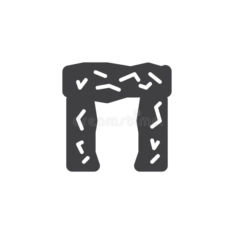 Stonehenge vectorpictogram vector illustratie